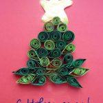 Фото 3: Новогодние открытки квиллинг