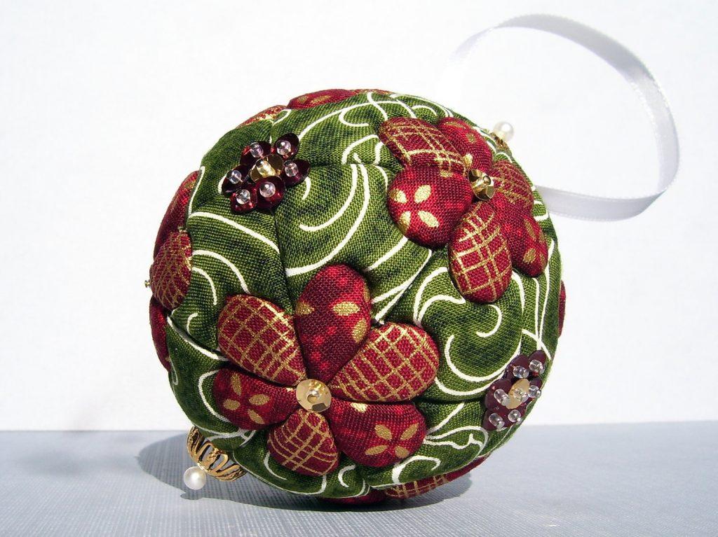 Пенопластовый новогодний шар