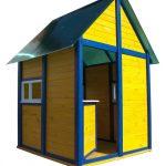 Фото 19: Пример детского домика из дерева
