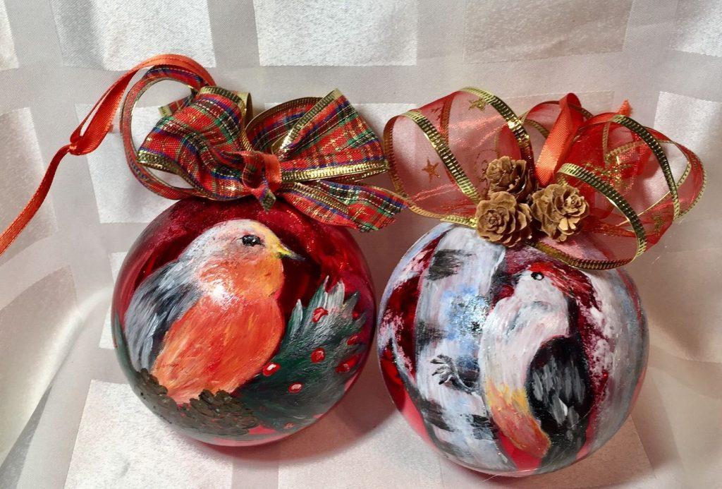 Птицы на шарах