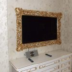 Фото 89: Рама для телевизора на стену