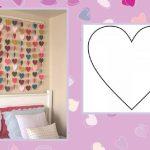 Фото 45: Сердечки-гирлянды на стену