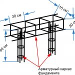 Фото 83: Схема арматуры для фундамента