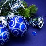 Фото 38: Синие новогодние шары