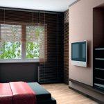 Фото 20: Телевизор на стене из гипсокартона в спальне