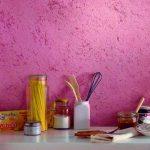 Фото 140: Жидкие обои в интерьере кухни