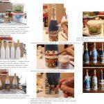 Фото 14: Этапы новогоднего декупажа бутылки