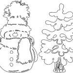 Фото 49: Трафарет елочки и снеговика