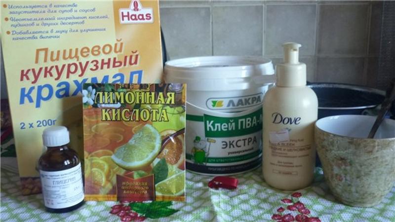Ингредиенты для изготовления холодного фарфора
