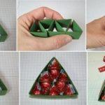 Фото 42: Коробка в виде елочки для конфет