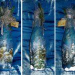 Фото 18: Красивый декупаж новогодних бутылок