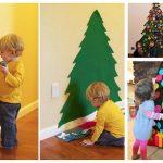 Фото 21: Настенные елочки для детей