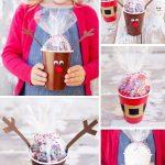Фото 25: новогодние подарки из конфет в стаканчике