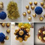 Фото 10: Новогодняя игрушка-шар из конфет