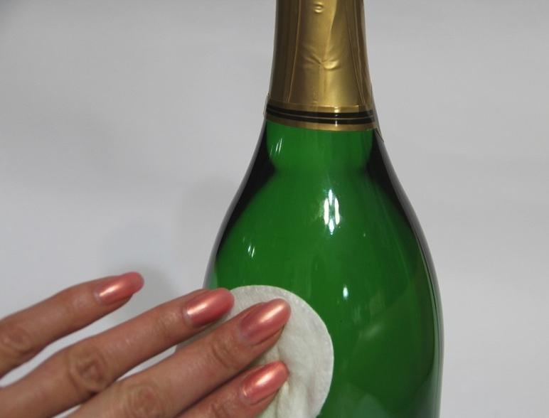 Обезжиривание бутылки