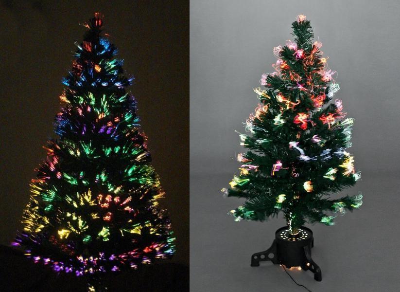 Оптиковолоконные светящиеся елочки