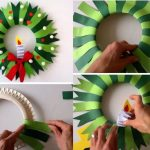 Фото 38: Рождественский венок из бумажной тарелки своими ркуами