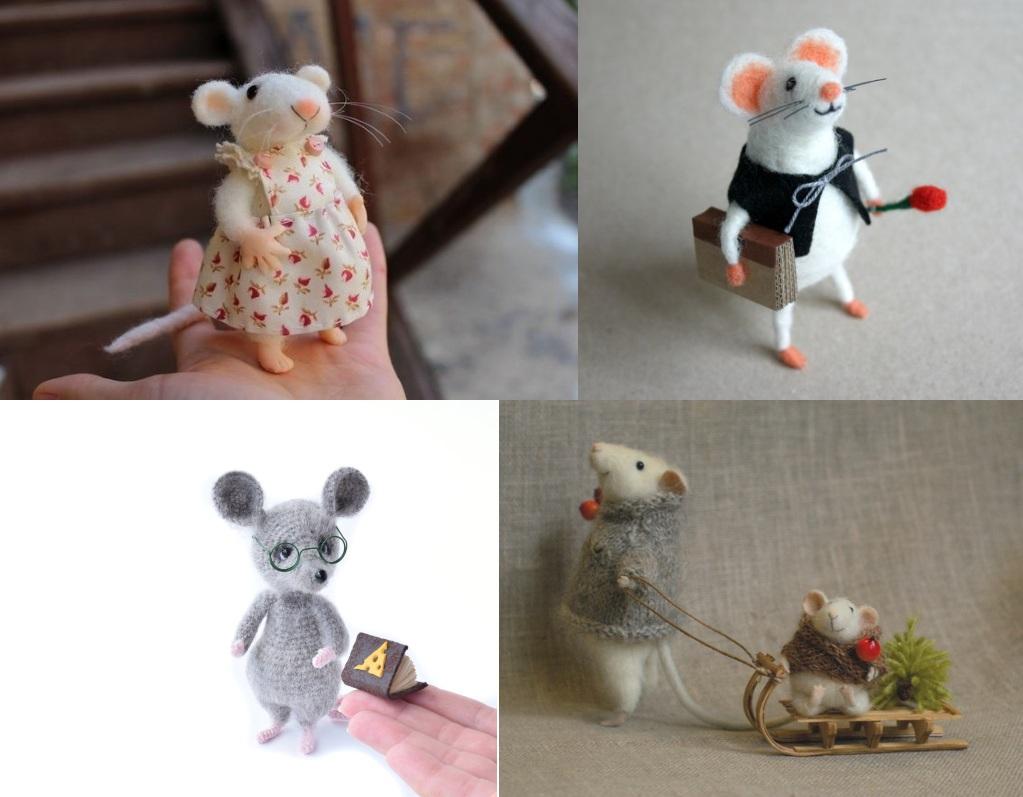 Поделки в виде крыс