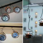 Фото 48: Подвесные подсвечники из проволоки