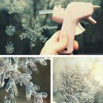 Фото 26: прозрачные снежинки на окне