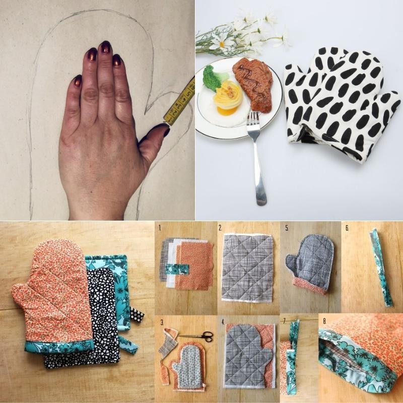 Как сделать прихватку рукавицу своими руками