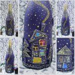 Фото 19: Роспись бутылок к Новому Году