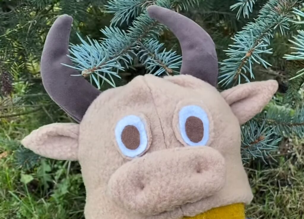 Шапка бычок своими руками на Новый Год
