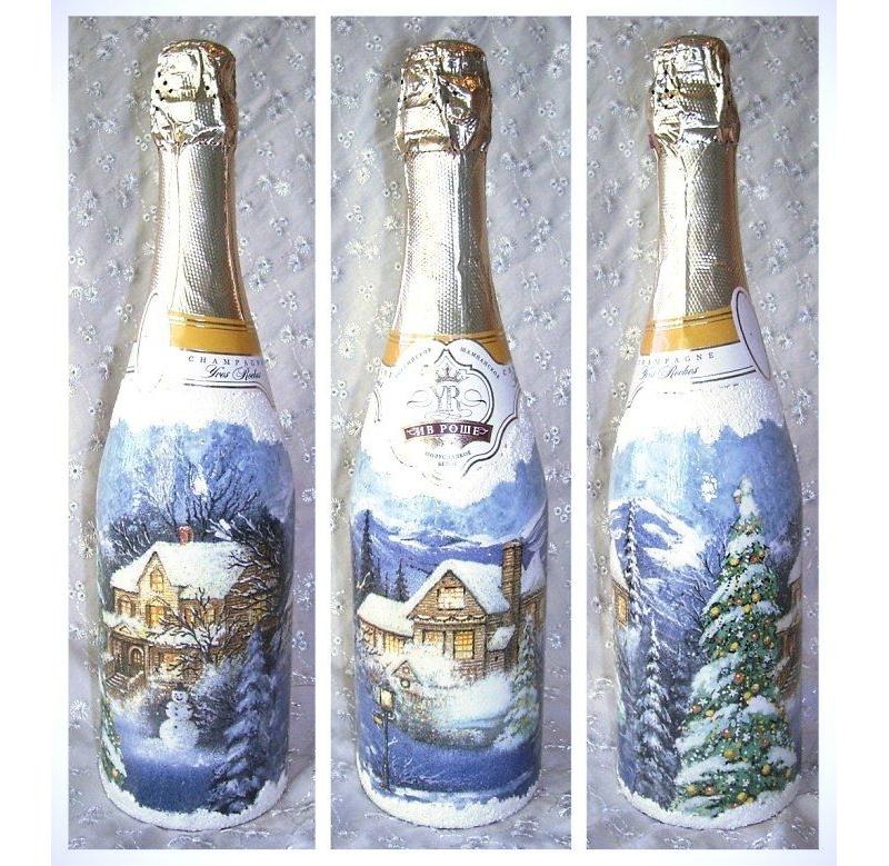 Декупаж бутылок в стиле прованс