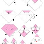 Фото 66: Снеговик оригами