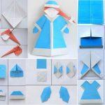 Фото 19: Снегурочка оригами своими руками