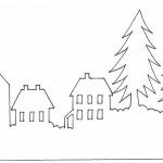 Фото 48: новогодний трафарет из бумаги для подсвечника