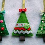 Фото 5: Варианты новогодних елочек из фетра