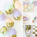 Фото 75: Декор яиц кусочками фольги