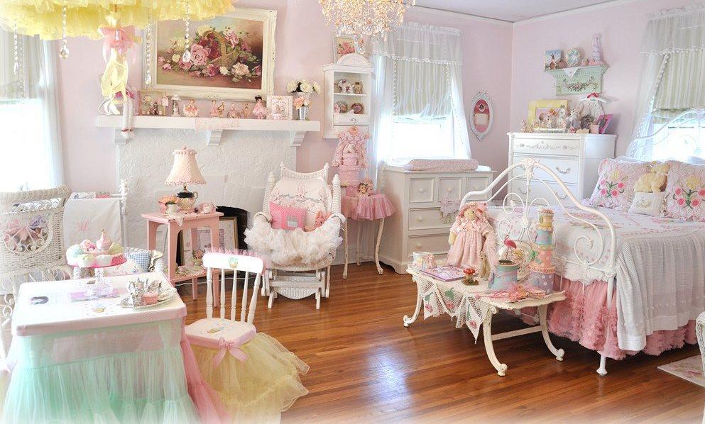 Комната для девочек в стиле шебби-шик