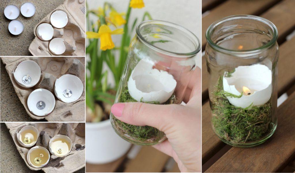 Пасхальный флорариум-свеча