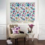 Фото 15: Рулонные шторы цветочные