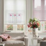 Фото 44: Рулонные шторы в гостиной
