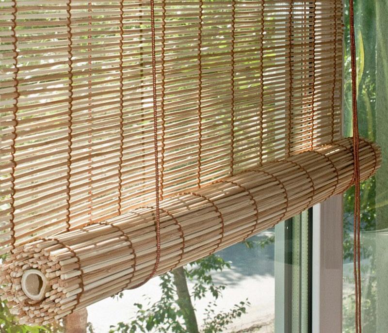 Деревянные рулонные шторы