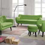 Фото 20: зеленая мебель для гостиной