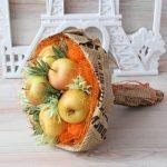 Фото 60: Букет из яблок