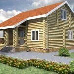 Фото 54: Проект дома из оцилиндрованного бревна