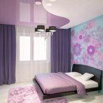 Фото 74: Двухцветный дизайн натяжного потолка