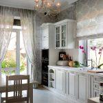 Фото 60: Уютная кухня в стиле прованс