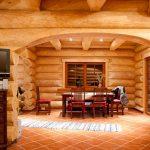 Фото 25: Дом из оцилиндрованного бревна - вид внутри