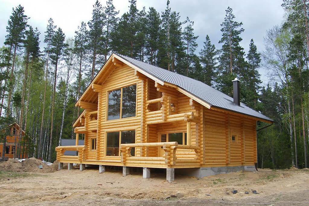 Красивые и прочные деревянные дома