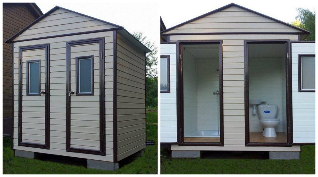 Удобный домик с душем и туалетом для дачи