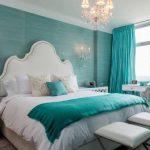 Фото 22: Дизайн бирюзовой спальни