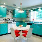 Фото 55: кухня в бирюзовых тошнах
