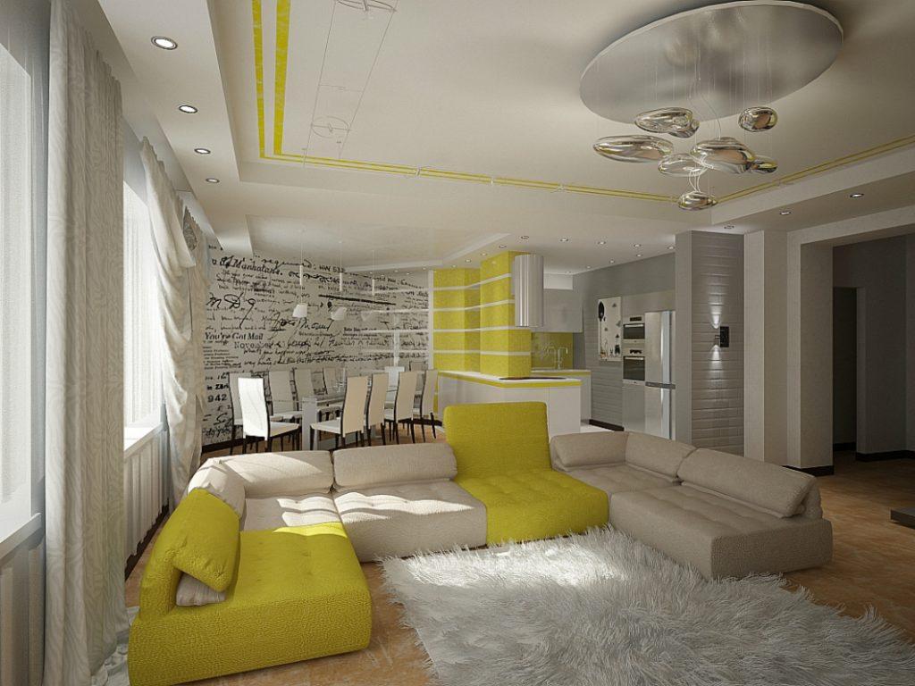 Дизайн натяжного потолка для малогабаритной квартиры