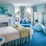 Фото 8: Бирюзовая спальня в современном стиле
